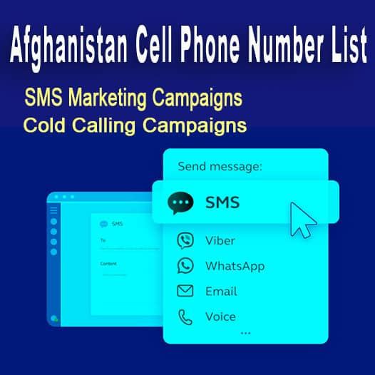 Afghanistan Cell Phone Number List