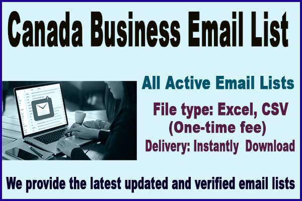 Canada Business Email List