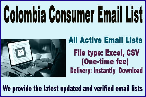 Colombia Consumer Email List