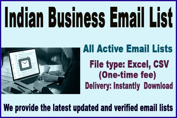 Indian Business Email List