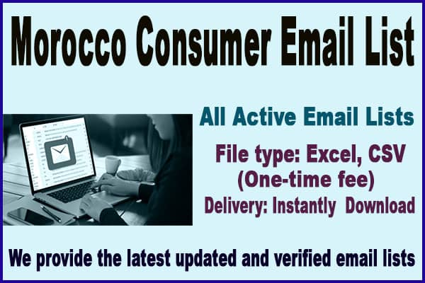 Morocco Consumer Email List