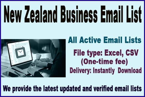 New Zealand Business Email List