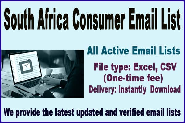 South Africa Consumer Email List